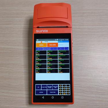 Máy POS cảm ứng cần tay Sunmi V1s